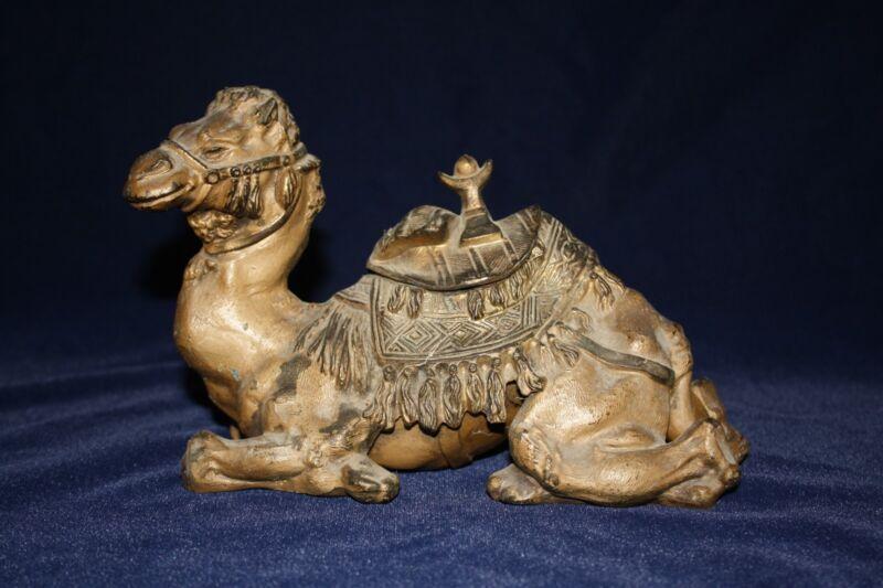 Antique Bedouin Camel Inkwell (Franz Bergman Style)