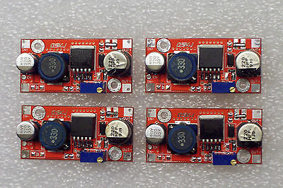 4 Pcs New Red Xl6009 Dc-dc Adjustable Step-up Power Module Replaces Lm2577