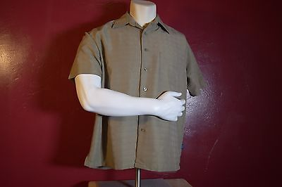 Woody's Retro Lounge, Large Brown Button Down Casual Ware Shirt.