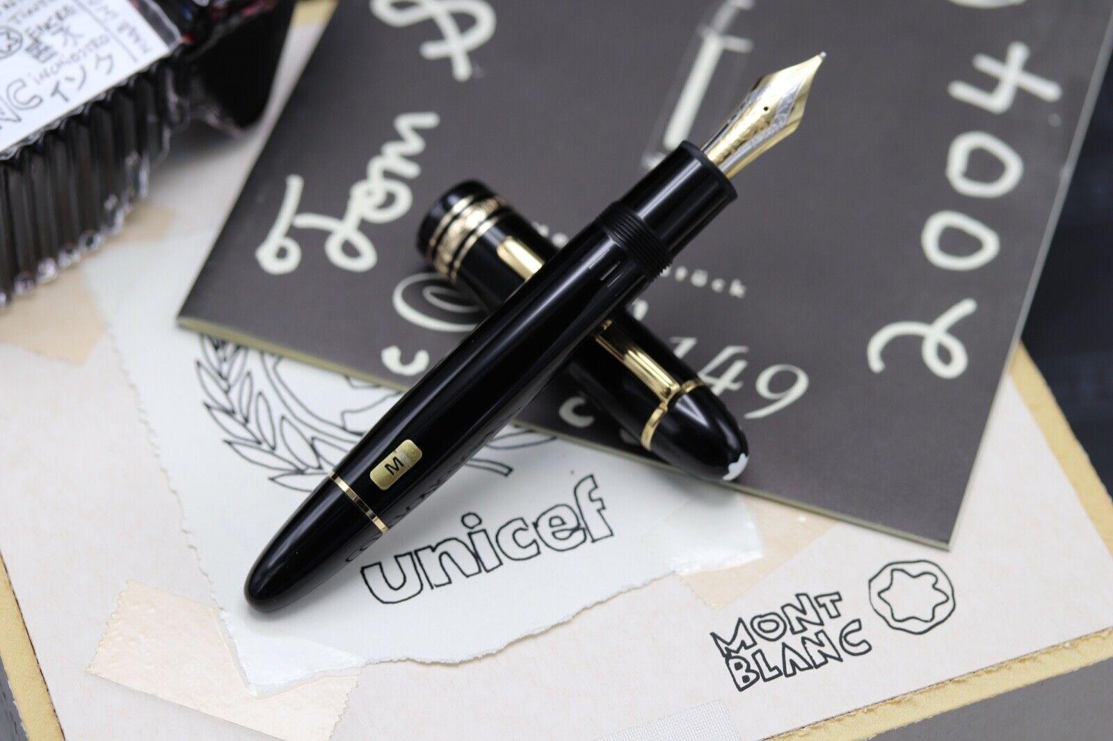 Montblanc Meisterstuck 149 Tom Sachs UNICEF Fountain Pen Set - UNUSED 1