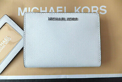 Michael Kors White Saffiano Leather Jet Set Carryall Wallet Coin Purse RRP £135