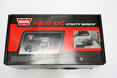 1X Eléctrico Cabrestante Warn Dc 4000 Utilidad Winch 1700KG 12V + Mando