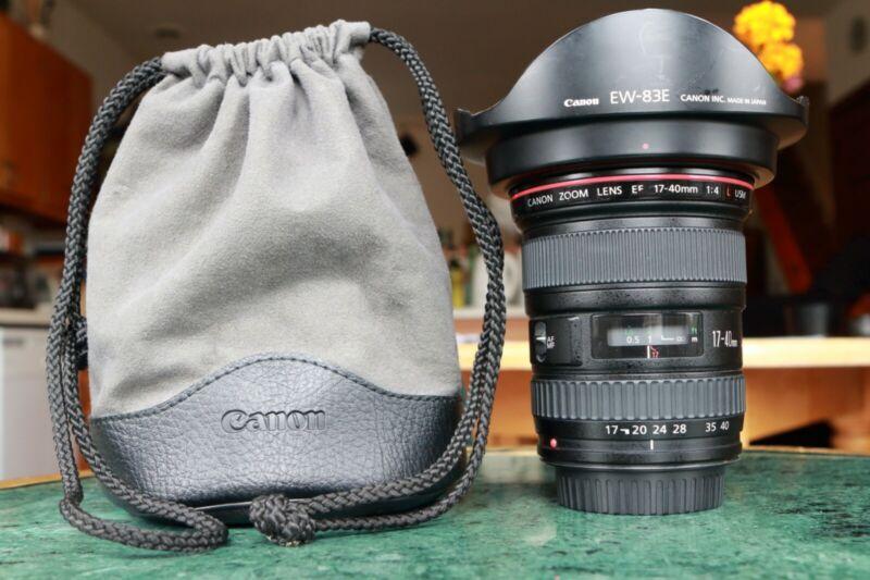 Canon EF 17-40mm f/4 L USM Ultra Wide Lens