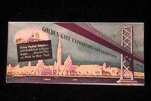 Worlds fair san francisco 1939 golden gate expo heinz 57 color