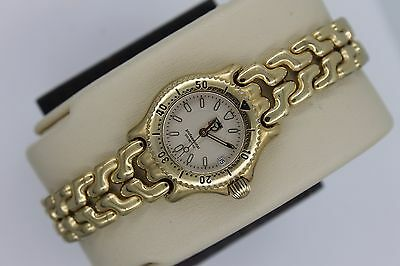 Tag Heuer Watch Mini Womens Gold SEL WG1430 S/EL Link SS Professional Mint Glass