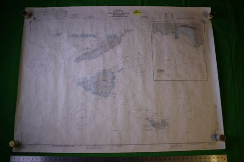 West Indies Antilles, Leeward, Anguilla 47x35 Vintage 1984 Nautical Chart/Map