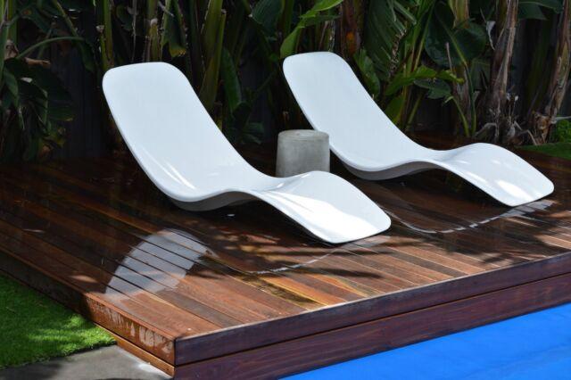 Banana chair out door lounge sun chair pool deck chair for Garden decking gumtree