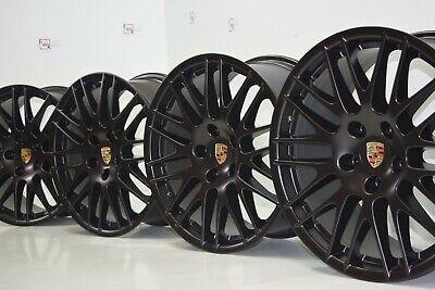 "20"" Porsche Cayenne RS Spyder Factory OEM Black Wheels - Set of 4 Satin Black"