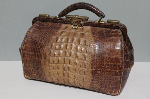 Vintage Antique Alligator Leather Doctor