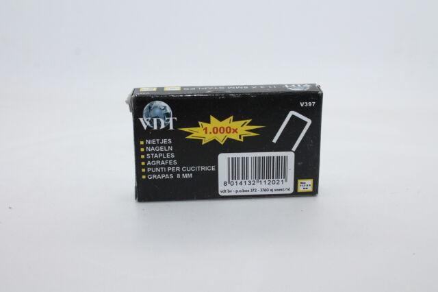 Klammern 8 mm 1000 Stück Für hand Taker neu 11,30 x 8 mm