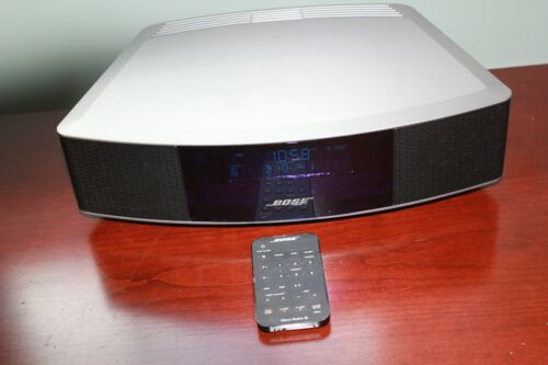 Bose Wave Radio IV 417788-WR Platinum Silver With Remote Control