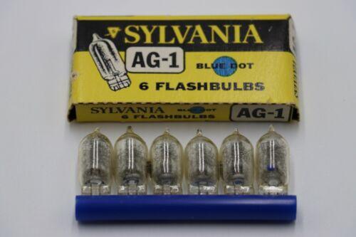 Vintage New Old Stock AG1 Sylvania Blue Dot Flashbulbs in Original Box