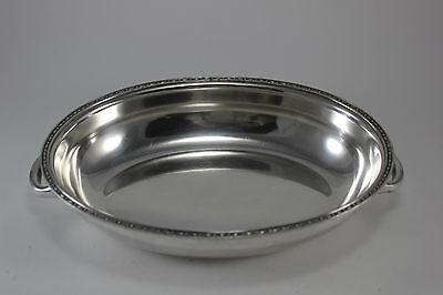 - Vintage Silver Plate Oval Serving Bowl Cover with Handles Casserole Deep Tray