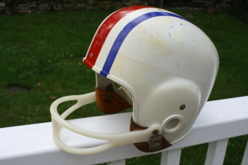 Vintage RAWLINGS Harlon Hill Large Football Helmet Red White and Blue Sports