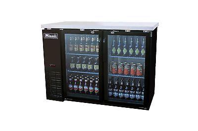 Migali C-bb48g-hc Two Door Back Bar Refrigerator Glass Beer Cooler Free Shipping