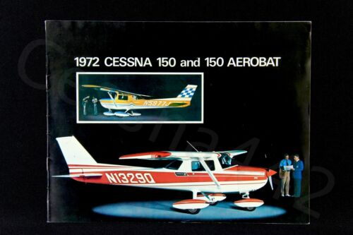 CESSNA Factory OEM 150 & Aerobat Brochure 1972 Vintage Perfect 10 Pages Gift New