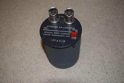 General Radio Standard Air Capacitor Type 1403-k 1 Pf - 0.1 60