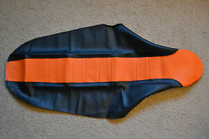 FLU ORG/BLK PLEATED GRIPPER SEAT COVER  KTM 65SX SX65  2009-2015