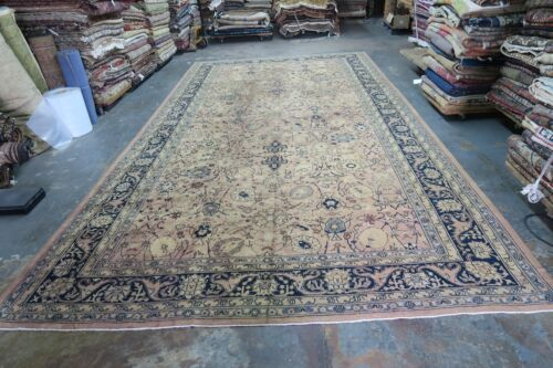 Vintage Turkish Oushak Sivas Long Area Rug Wool Hand Knotted 9