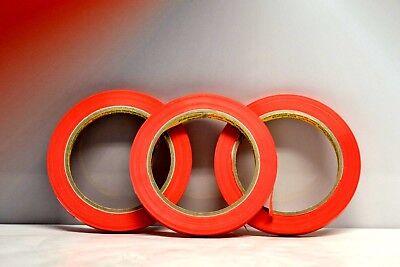 Gerade Linie 66 (3X 3M Zierlinienband Rot 9mm x 66M Geeignet für gerade saubere Linien 5560875)