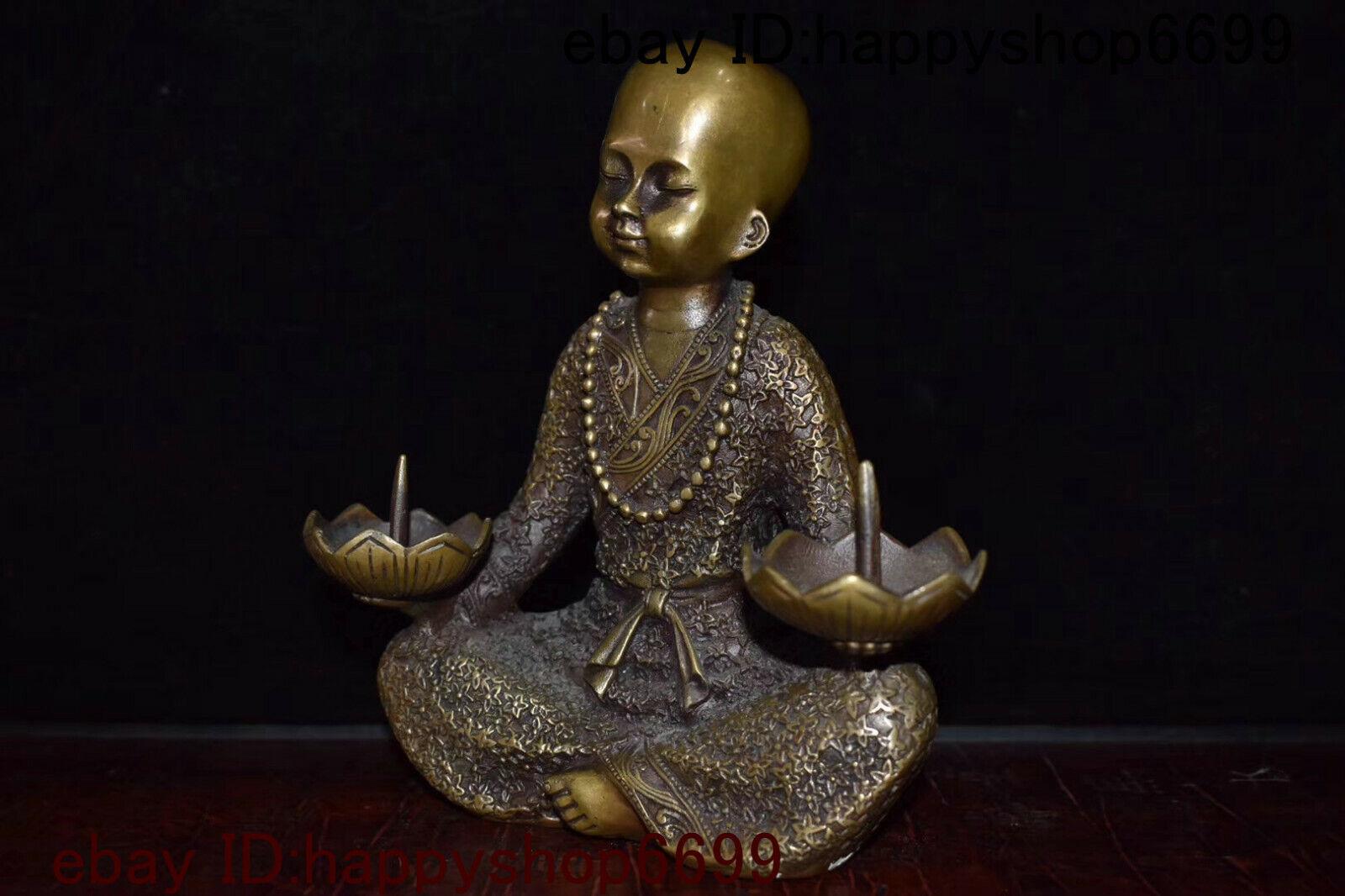 Old Temple Tibetan Buddhism bronze gilt painting Usnisa