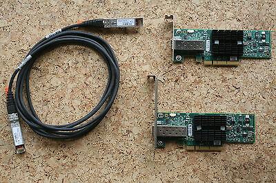 SET 1low + 1long 2x HP 671798 10GbE +3m Bundle 10Gbit 10GBase Ethernet 10G 10Gb