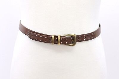 Studded Woven Belt (NWT Brunello Cucinelli Men 100% Leather Woven + Studded Skinny Belt 90/32US A186 )