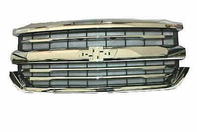 2016-2018 Chevrolet Silverado 1500 Chrome Grille 84056776 LTZ High Country OEM  Oem Chrome Grille