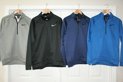 Nike Therma Dri Fit Training Quarter Zip Fleece Sweatshirt Pullover Top 932041
