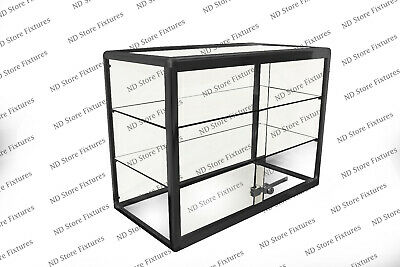 Glass Countertop Display Case Store Fixture Showcase With Front Lock 1t3o0p1
