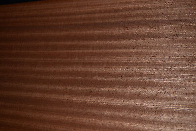 Sapele Ribbon Stripe Wood Veneer Sheets 10.5 X 29 Inches   6773-22