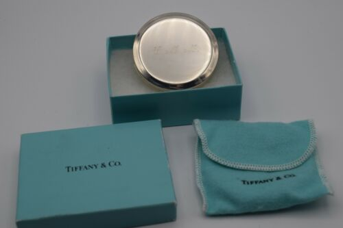 Tiffany & Co. Sterling Silver Compact Makeup Case Vintage