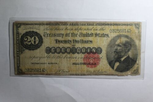 FR. 1178 1882 $20 TWENTY DOLLARS GOLD CERTIFICATE CURRENCY NOTE