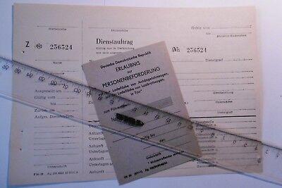 Volkspolizei, NVA Dienstauftrag Fin 39, Erlaubnis zur Personenbeförderung VK 34