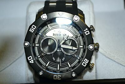 Invicta Sea Spider Men's VD54B Black Stainless SWISS made Chronograph Watch 50mm