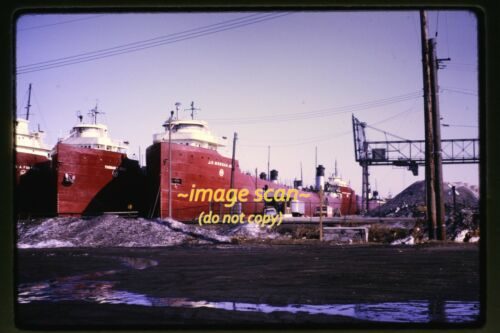 Great Lakes Freighter Cargo Ships in 1969, Original Slide g23b