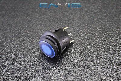 Rocker Switch On Off Blue Toggle Led 12v 16 Amp 3 Pin Is-ec-wp1216blu