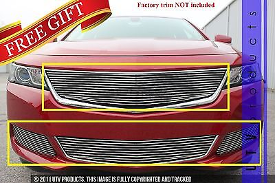 GTG 2014 - 2018 Chevy Impala 4PC Polished Overlay Billet Grille Grill Kit
