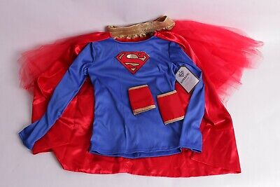 NWT Pottery Barn Kids Super Girl Halloween costume 7-8 cape tutu