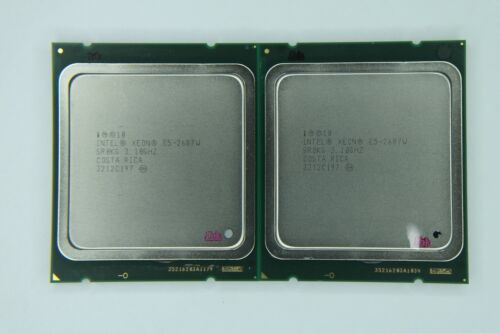 Matched Pair of Intel Xeon E5-2687W 3.1GHz Eight Core SR0KG Processor w/Grease