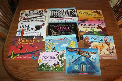 11 Jerry Pallotta Picture Books Lot Children Alphabet Counting Hershey Halloween (Alphabet Halloween)