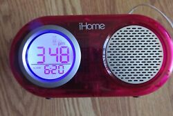 iHome iH33 Alarm Clock Docking Station for iPod or iPhone -Red