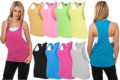 S LOOSE TANK TOP  Damen Lady T-Shirt Neon Sommer Tee Bandeau (Neon Shirt)