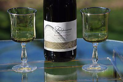 Vintage Wine Glasses, Noritake Rainbow Dark Green Wine glasses, Set of 4