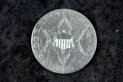 Estate  Find 1856  Three Cent SILVER  #D5589