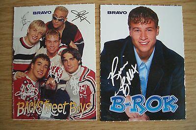 Bravo Backstreet Boys  2 Autogramm Sticker