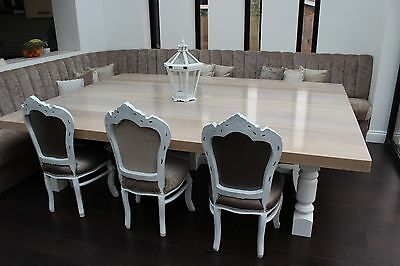 10,12,14,16,18 seater Large, THE BOSS, Solid Oak Top Dining Table,Any Colour