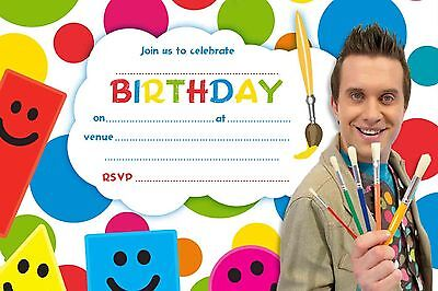 MISTER MAKER A5 Party Invitations on Glossy Paper x 20 (Envelopes Not - Party Invitation Maker