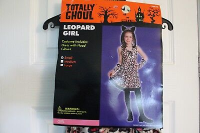 Hooded Leopard Girl Girls with gloves Halloween costume Totally Ghoul Size Small