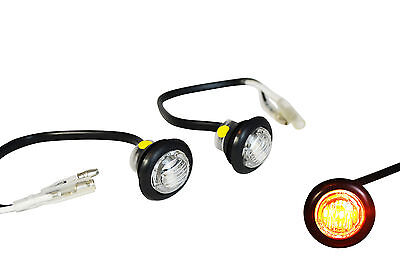 Round Flush Mount LED Indicators Markers For Project Motorbikes and Scooters